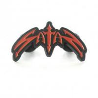 Satan Classic Logo Die Cut Enamel Pin