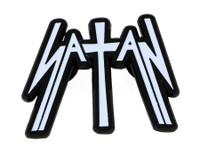 Satan Kiss Of Death Die Cut Enamel Pin