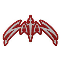 Satan Classic Logo Die Cut Embroidered Patch