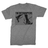 The Interrupters Boots Slim-Fit T-Shirt Grey