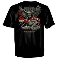 NRA Liberty Or Death T-Shirt Black