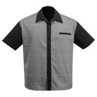 Steady Clothing Bad News Felix Bowling Shirt Black