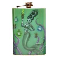 Retro A Go Go P'gosh Franken Mermaid Stainless 8 oz. Steel Flask