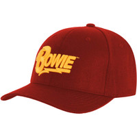 David Bowie Logo Dad Hat Red