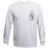 Bad Religion Flaming Crossbuster Long Sleeve T-Shirt White