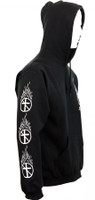 Bad Religion Flaming Crossbuster Pullover Hoodie Black