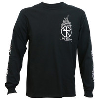 Bad Religion Flaming Crossbuster Long Sleeve T-Shirt Black