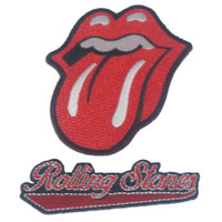 The Rolling Stones Embroidered Patch Set