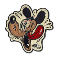 Retro A Go Go Shawn Dickinson Outhouse Rat Embroidered Patch