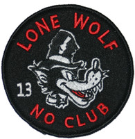Lucky 13 Lone Wolf Embroidered Patch