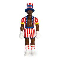 "Super7 Rocky IV Apollo Creed ReAction Figure 3.75"""