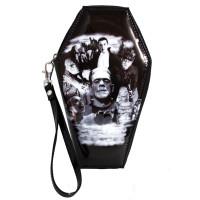 Universal Monsters Collage Zip Around Coffin Wallet
