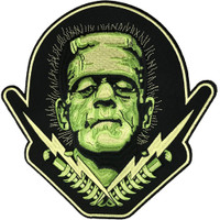 Universal Monsters Frankenstein Bolts Iron On Back Patch