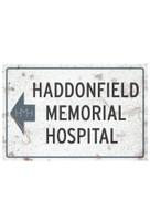 Halloween II Haddonfield Memorial Hospital Aluminum Sign Prop