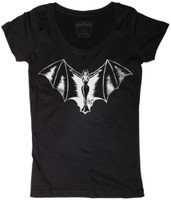 Lucky 13 Women's Vampy Scoop Neck T-Shirt