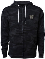 Lucky 13 Twin Cobras Zip-Up Hoodie Black Camo