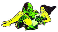 Creature From The Black Lagoon Damsel Glow In The Dark Enamel Pin