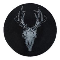 Kreepsville 666 Deer Skull Black Beret Hat