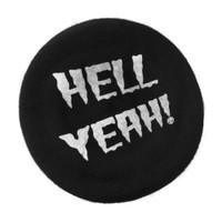 Kreepsville 666 Horrorpops Hell Yeah Black Beret Hat