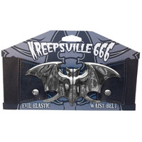 Kreepsville 666 Bat Elastic Waist Belt Black