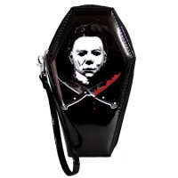 Halloween Michael Myers Glitter Zip Around Coffin Wallet