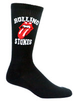 Authentic The Rolling Stones Logo Fits Sizes 6-12 Crew Socks NEW