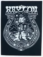Waylon Jennings Horseshoe Back Patch
