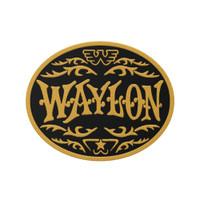 Waylon Jennings Buckle Logo Yellow Embroidered Patch