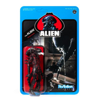 Super7 Aliens ReAction Bloody Alien Open Mouth Wave 3 Blue Card Figure 3.75""