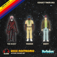Super7 Alien ReAction Figure Pack B - Brett, Parker, Open Mouth Alien