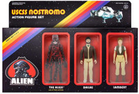 Super7 Alien ReAction Figure Pack C - Dallas, Lambert, Bloody Alien