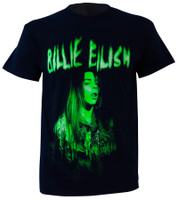 Billie Eilish Green Photo T-Shirt Black