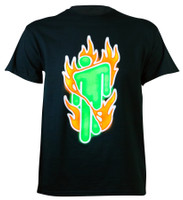 Billie Eilish Burning Blohsh T-Shirt Black