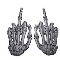 Kreepsville 666 Skelli Hand Finger Bone Embroidered Patch Pair