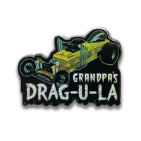 Retro A Go Go The Munsters Grandpa's Drag-u-la Enamel Pin