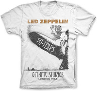 Led Zeppelin 50 Years Olympic Studios 1968 London T-Shirt