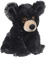 """Eco Pals Black Bear 9"""" by Wildlife Artists Eco-Friendly Stuffed Animal Plush Toy, Made from 100% Post-Consumer and Recycled Materials"""