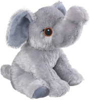 """Eco Pals Elephant 9"""" by Wildlife Artists Eco-Friendly Stuffed Animal Plush Toy, Made from 100% Post-Consumer and Recycled Materials"""