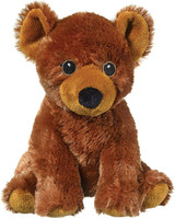 """Eco Pals Grizzly Bear 9"""" by Wildlife Artists Eco-Friendly Stuffed Animal Plush Toy, Made from 100% Post-Consumer and Recycled Materials"""