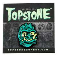Topstone Horror Saber Toothed Space Man Enamel Pin