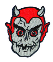 "Topstone Horror Graveyard Devil Retro Horror Halloween Embroidered Patch 3"" x 3.5"""