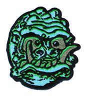 "Topstone Horror Saber Toothed Space Man Retro Horror Halloween Embroidered Patch 3"" x 3.5"""