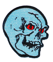 "Topstone Horror Skull Retro Horror Halloween Embroidered Patch 3"" x 3.5"""