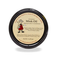 Angelus Mink Oil Paste Leather Waterproofer and Contitioner 3 oz