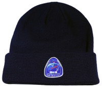 Authentic NASA DM2 Patch Navy Blue Cuff Knit Beanie