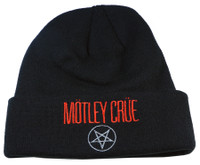 Authentic Motley Crue Black Cuff Knit Beanie