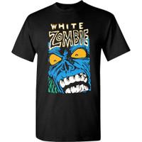White Zombie Blue Monster T-Shirt Black