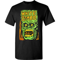 White Zombie Monster Yell T-Shirt Black