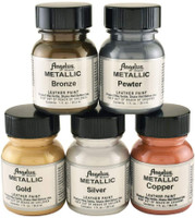 Angelus Metallic Leather Paint 1oz 5 Color Set