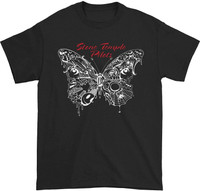 Stone Temple Pilots Men's Webbed Butterfly T-Shirt Black